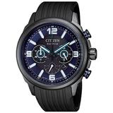 Chrono Sport Chronograph Black Dial Eco-drive Watch -12e - Black - Citizen Watches