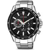 Chronograph Black Dial Titanium Watch -82e - Black - Citizen Watches