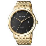 Quartz Black Dial Gold-tone Watch -51e - Black - Citizen Watches