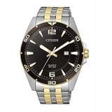 Quartz Black Dial Two-tone Watch -50e - Black - Citizen Watches