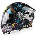 Motorradhelm Klapphelme Modularer Helme mit Bluetooth-Motorradhelm,ECE Zertifiziert Motorradhelm Integralhelm mit Double Lens Rollerhelm Sturzhelm für Damen und Herren N,M=57~58cm
