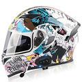 Motorradhelm Klapphelme Modularer Helme mit Bluetooth-Motorradhelm,ECE Zertifiziert Motorradhelm Integralhelm mit Double Lens Rollerhelm Sturzhelm für Damen und Herren M,XL=61~62cm