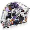 Motorradhelm Klapphelme Modularer Helme mit Bluetooth-Motorradhelm,ECE Zertifiziert Motorradhelm Integralhelm mit Double Lens Rollerhelm Sturzhelm für Damen und Herren L,XXL=63cm