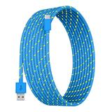 Tech Zebra USB Cables Blue - Blue 10-Foot Charging Cable For USB-C