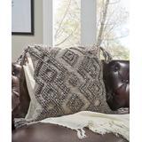 Modern Threads Throw Pillows - Light Brown Geometric Tassel Cimarron Throw Pillow Cover