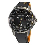 Nautica Men's Coba Lake Stainless Steel And Silicone 3-Hand Watch Multi, OS