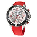 Nautica Men's Nst Chronograph Stainless Steel And Silicone Watch Multi, OS
