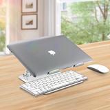 Alex Smart Home Aluminum Laptop Stand Ergonomic Height Angle Adjustable Portable Laptop Riser,Compatible w/ Macbook, Air, Pro, Dell, HP, Lenovo