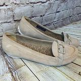 Adidas Shoes | Rockport Adidas Collab Womens Suede Driving Loafer | Color: Cream/Tan | Size: 8