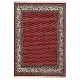 Herat Oriental Hand-Knotted/Cream Mir Wool Rug in Red, Size 5.0 H x 5.0 W x 36.0 D in   Wayfair W-MA5907