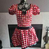 Disney Dresses   Disney Minnie Mouse Sweetheart Costume Dress   Color: Red/White   Size: M