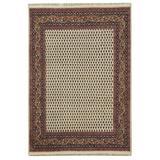Herat Oriental Hand-Knotted Cream/Brown Mir Wool Rug in White, Size 5.0 H x 5.0 W x 36.0 D in   Wayfair W-MA5791