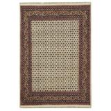 Herat Oriental Hand-Knotted Cream/Brown Mir Wool Rug in White, Size 5.0 H x 5.0 W x 36.0 D in   Wayfair W-MA6084