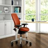 Steelcase Leap® Executive Chair Upholstered/Metal in Gray/Brown, Size 36.0 H x 22.0 W x 24.75 D in | Wayfair LEAP-5G50-4799-CC