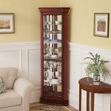 Darby Home Co Nancy Lighted Corner Curio CabinetWood in Brown, Size 80.0 H x 27.0 W x 16.0 D in | Wayfair 22479D8682D8432E899C11D4959710F6