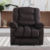 Latitude Run® Remote Operation Manual Massage Recliner Chair w/ Heat & Vibration (Grey)Microfiber/Microsuede in Gray | Wayfair