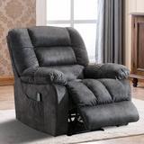 Latitude Run® Remote Operation Manual Massage Recliner Chair w/ Heat & Vibration (Grey)Microfiber/Microsuede in Brown | Wayfair