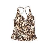 Calvin Klein Swimsuit Top Tan Swimwear - Used - Size Large