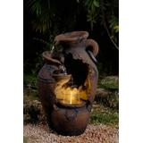 Old Fashion Pot Outdoor Fountain With Led Light- Jeco Wholesale FCL004