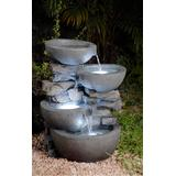 Modern Bowls Fountain With Led Lights- Jeco Wholesale FCL059