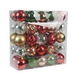 50 Pk Christmas Ornament Holiday Cottage Dec Orn Set- Jeco Wholesale CHD-TA149