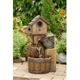 Bird House Outdoor Water Fountain Without Light- Jeco Wholesale FCL054