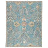 Juniper Handmade Oriental Teal/ Orange Area Rug (9'X12') - Jaipur Living RUG143984