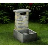 Stone Finish Water Fall Fountain With Led Light- Jeco Wholesale FCL152
