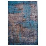 """Hoku Abstract Blue/ Brown Area Rug (6'7""""X9'6"""") - Vibe by Jaipur Living RUG149921"""