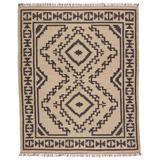 Jaima Handmade Tribal Beige/ Black Area Rug (4'X6') - Jaipur Living RUG150027