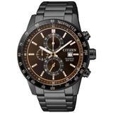 Chronograph Quartz Brown Dial Watch -55x - Brown - Citizen Watches