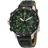 Promaster Altimeter Eco-drive Green Dial Watch -14x - Green - Citizen Watches