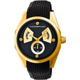 M34 Series Multi-function Black Dial Black Silicone Watch - Black - Morphic Watches