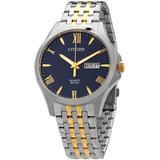 Quartz Blue Dial Two-tone Watch -50l - Blue - Citizen Watches