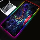 Gaming Mouse Pads,Starry Sky Large Size RGB Gaming Mouse Pad Cool LED Color Lock Rubber Computer Keyboard Mat 900x400mm
