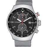 Chronograph Black Dial Watch -86e - Black - Citizen Watches