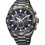 Promaster World Time Chronograph Dial Watch -84e - Black - Citizen Watches