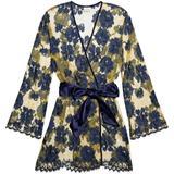 Dove Mews Satin-trimmed Leavers Lace Robe - Yellow - Myla Nightwear