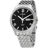 Quartz Black Dial Stainless Steel Watch -51e - Black - Citizen Watches