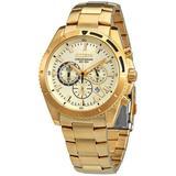 Chronograph Quartz Champagne Dial Watch -50p - Metallic - Citizen Watches