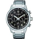 Chronograph Black Dial Stainless Steel Watch -81e - Black - Citizen Watches