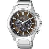 Chronograph Brown Dial Titanium Watch -51w - Metallic - Citizen Watches