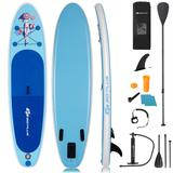 Costway 10' Inflatable Stand Up Paddle Board with Adjustable Paddle Pump