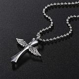 THj Stainless Steel Necklace Angel Wings Memorial Keepsake Pendant Necklaces Ashes Urn Necklace Cremation Jewelry