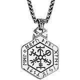 AMOZ Vintage Titanium Steel Viking Celtic Tree of Life Pendant Necklace for Men Women 24 Inches Chain