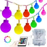 COHOYA Globe String Lights Battery Operated Globe Ball String Lights 33ft 100LED with16 Colors Changing Lights Remote Timer&Memory Lighting for Bedroom Indoor Outdoor (Frosted Balls)