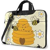 Bumblebee Hive Yellow Laptop Bag, 15.6 inch Laptop Shoulder Bag Briefcase Office Bag for Men Women, Notebook Computer Case for Laptop and Tablet, Sleek Design & Durable