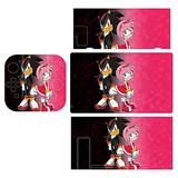 Game Sonic Stickers Decals Cover for Switch Lite Gaming Skin Compatible for Switch Controller,Full Set Wrap Protective Faceplate Console Screen Protector