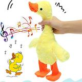 The Talking Singing and Walking Duck Electronic Plush Toy, Toy Duck for Dogs, Stuffed Animals and Plush Toys, Boys and Girls Birthday Holiday Fun Gifts