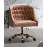 Jayden Creation Office Chairs PINK - Pink Button-Tufted-Back ET Office Chair